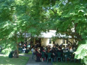 Between panels at the NSW Writers Centre.