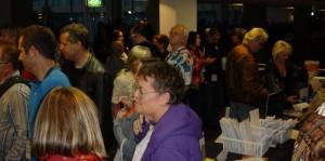Crowd of generous writers