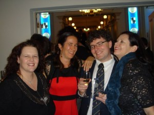 Tehani Wessely (judging co-ordinator), Me, Daniel O'Malley (award winner) & Kate Forsyth (award presenter)